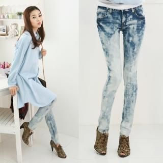 Buy Jean Stone Washed Skinny Jeans 1022189502