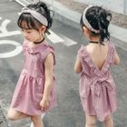 Kids Open Back Sleeveless Dress 1596