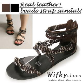 Picture of Wifky Beaded Strap Sandals 1022789148 (Sandals, Wifky Shoes, Korea Shoes, Womens Shoes, Womens Sandals)