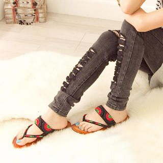 Picture of Fashion Lady Beaded Thong Sandals 1023002680 (Sandals, Fashion Lady Shoes, China Shoes, Womens Shoes, Womens Sandals)