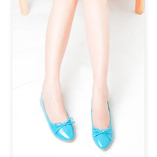 Picture of KAWO Bow Patent Flats 1023004611 (Flat Shoes, KAWO Shoes, China Shoes, Womens Shoes, Womens Flat Shoes)