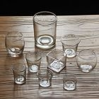 Glass Candle Holder with Candle 1596