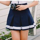 Striped Pleated Skirt 1596