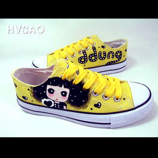 Picture of HVBAO  Simply Adorable  Sneakers Yellow 1020608892 (Sneakers, HVBAO Shoes, Taiwan Shoes, Womens Shoes, Womens Sneakers)