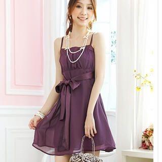 Buy Tokyo Fashion Sleeveless Tie-Waist Chiffon Party Dress 1022484388