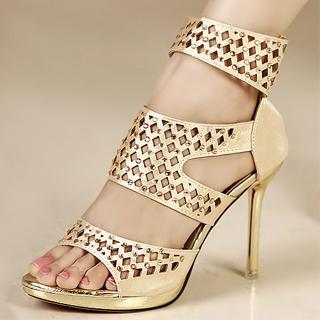 Picture of Kvoll Rhinestone Cutout Sandals 1023009574 (Sandals, Kvoll Shoes, China Shoes, Womens Shoes, Womens Sandals)