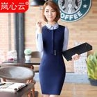 Buckle Detail Sleeveless Sheath Dress / Blazer / Dress Shirt 1596