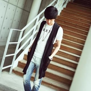 Buy Style Engine Long Knit Vest 1022928456