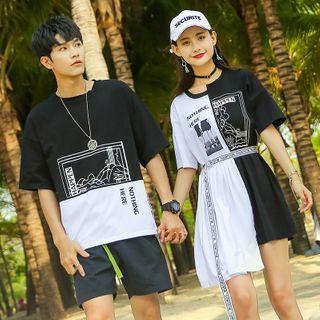 Short-sleeve | T-Shirt | Couple | Dress | Print