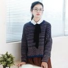 Striped Knit Pullover 1596