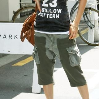 Picture of BBon-J Cropped Cargo Pants 1022975042 (BBon-J Apparel, Womens Pants, South Korea Apparel)