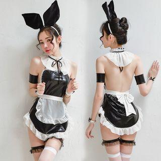 Costume   Rabbit   Black   Lady   Size   One   Set