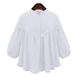 ruffle-linen-blend-blouse