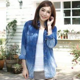Gradient Denim Shirt