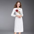 Long-Sleeve Sequined Dress 1596