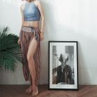 Set: Patterned Bikini + Pants 1596