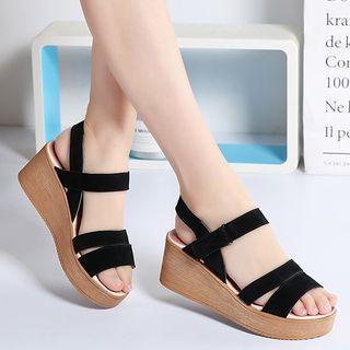 Wedge-Heel Platform Sandals