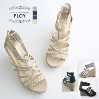 Buy FLOY SHOES Braided-Strap Wedge Sandals 1023053933
