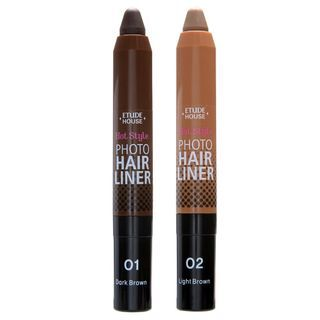 Etude House - Hot Style Photo Hair Liner #01 Dark Brown 1057303492