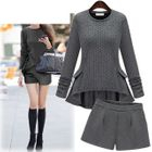 Set: Knit Frilled Top + Shorts 1596