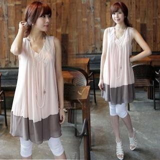 Buy IT GIRL STYLE Color-Block Sleeveless Chiffon Dress 1022572036