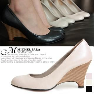 Buy MICHEL PARA COLLECTION Round Toe Wedge Pumps 1022405072