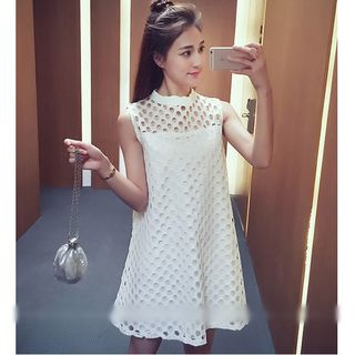 MAVIS Perforated Sleeveless Dress