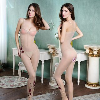 Sheer Crotchless Bodysuit