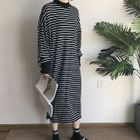 Long-Sleeve Striped Maxi Dress 1596