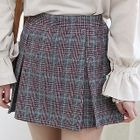 Glen-Plaid Mini Pleat Skirt 1596