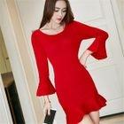 Ruffle Knit Sheath Dress 1596