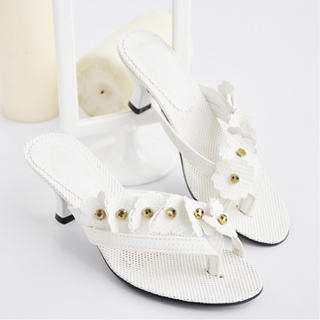 Picture of KAWO Flower-Accent Thong Sandals 1022899993 (Sandals, KAWO Shoes, China Shoes, Womens Shoes, Womens Sandals)
