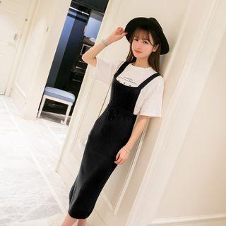 Slit-Back Ribbed Jumper Dress 1061172397