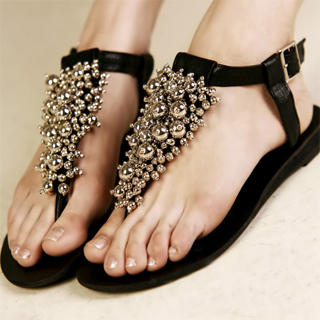 Buy Kvoll Beaded Thong Sandals 1022990414