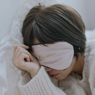 Image of Embroidered Lettering Sleeping Eye Mask