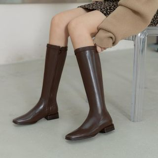 Square-toe Tall Boots