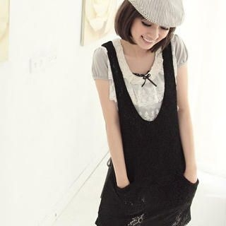 Picture of CatWorld Zip-Back Knit Vest Dress 1022906246 (CatWorld Dresses, Womens Dresses, Taiwan Dresses)