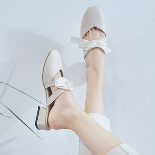 Image of Bow Low Heel Mules