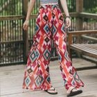 Printed Chiffon Wide-Leg Pants 1596