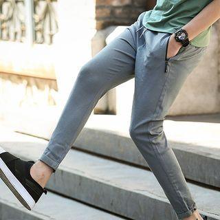 Drawstring-Waist Slim Fit Pants