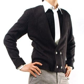 Buy Purplow Low-V Double-Buttoned Cardigan 1004594042