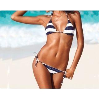 Sequined Stripe Bikini 1049078025
