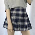 Plaid Pleated Skirt 1596