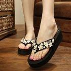 Platfrom Flower Flip-Flops 1596