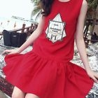 Applique Sleeveless Dress 1596