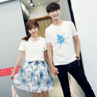 Couple Matching T-Shirt / Set: Top + Printed Skirt 1059385749