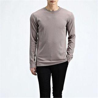 Round-Neck Ribbed T-Shirt 1057513028