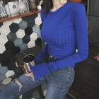 Long-Sleeve Ribbed Slim-Fit Top 1596