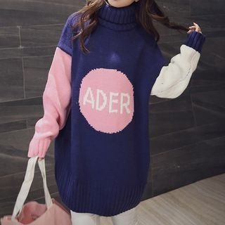 Color Block Long Sweater 1055699096