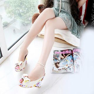 Picture of KAWO Bow Floral Print Wedges 1022917728 (Other Shoes, KAWO Shoes, China Shoes, Womens Shoes, Other Womens Shoes)